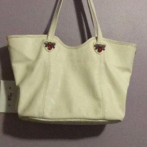 ELLEN TRACY Ivory with GEMSTONES Handbag!